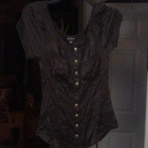 Bebe dark brown blouse